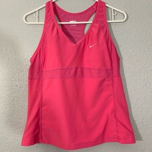 Nike Pink Fit Dry Tank with Bra size XL